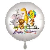 Zootiere Luftballon zum 9. Geburtstag