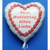 Zum-Muttertag-Alles-Liebe-weisser-Herzluftballon-aus-Folie-mit-Helium