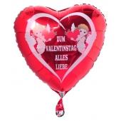 Zum Valentinstag alles Liebe, Amor, Liebesengel, Luftballon mit Helium