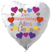 Zum Valentinstag Alles Liebe Herzluftballon