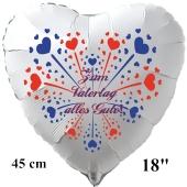 Zum Vatertag alles Gute! Weißer Luftballon in Herzform zum Vatertag