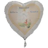 Zur Kommunion Alles Gute Herzluftballon, Junge