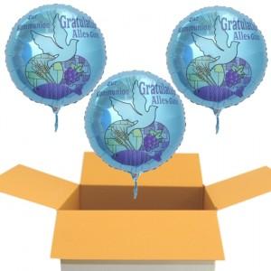 3 Luftballons zur Kommunion, Geschenke für das Kommunionskind, Heliumballons