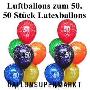 50 Luftballons Zahl 50