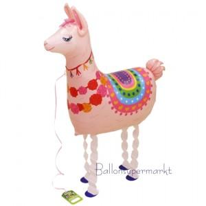 Airwalker Luftballon, Lama, mit Helium laufender Tier-Ballon