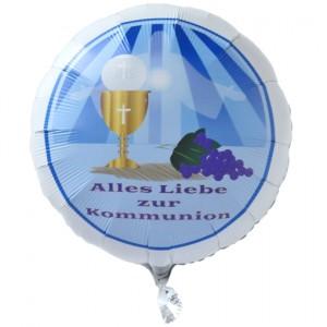 Alles Liebe zur Kommunion Luftballon aus Folie mit Ballongas