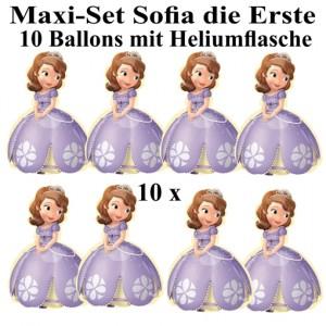 Ballons Helium Maxi Set Sofia die 1. Kindergeburtstag