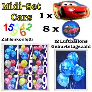 Ballons Helium Midi Set Dekoration Cars