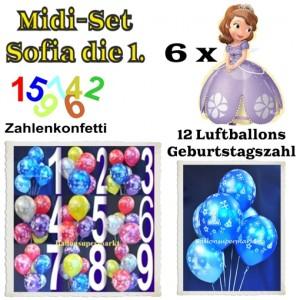 Ballons Helium Midi Set Dekoration Sofia die Erste