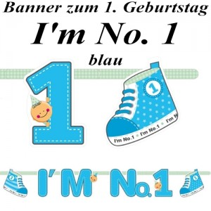 Banner I'm No. 1, blau