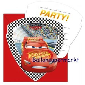 Cars 3 Einladungskarten zum Kindergeburtstag