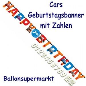 Cars Geburtstagsgirlande zum Kindergeburstag