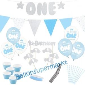 Deko-Set zum 1. Kindergeburtstag, 1st Birthday Boy, 33 Teile