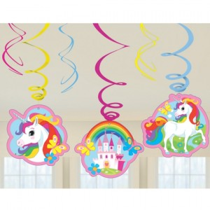 Einhorn Swirl Dekoration zum Kindergeburtstag