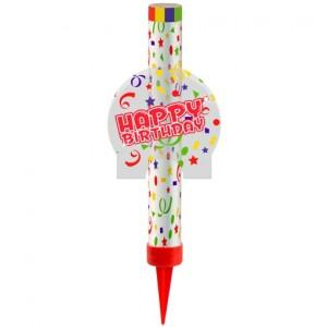 Eisfontäne Happy Birthday, Dekoration zum Geburtstag