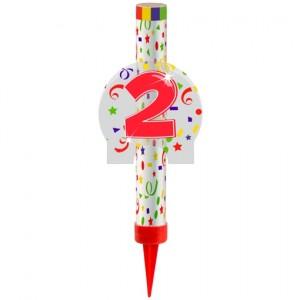 Eisfontäne Zahl 2, Dekoration zu Jubiläum und Geburtstag