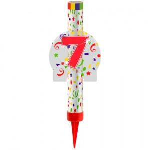 Eisfontäne Zahl 7, Dekoration zu Jubiläum und Geburtstag