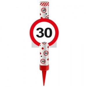 Eisfontäne Verkehrsschild 30, Dekoration zum 30. Jubiläum und Geburtstag