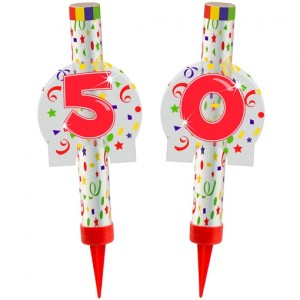 Eisfontänen Zahl 50, Dekoration zu Jubiläum und Geburtstag