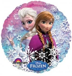 Folienballo Frozen, holografisch, ohne Helium