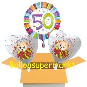 Luftballons aus Folie zum 50. Geburtstag