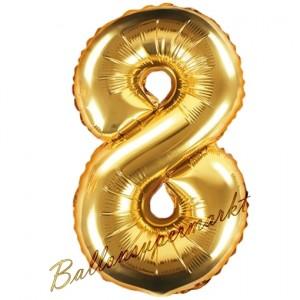 Luftballon Zahl 58, gold, 35 cm