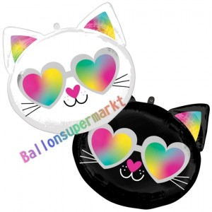 Luftballon aus Folie, Cool Kitty ohne Helium-Ballongas