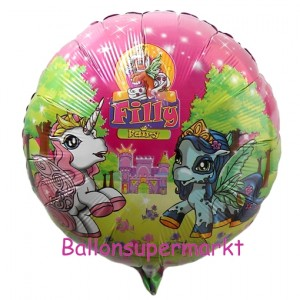 Filly Luftballon aus Folie inklusive Helium/Ballongas