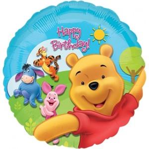 Folienballon Winnie the Pooh zum Geburtstag, ohne Helium