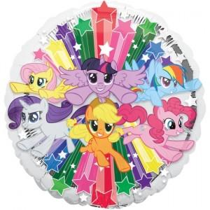 My Little Pony Gruppe Luftballon aus Folie ohne Helium