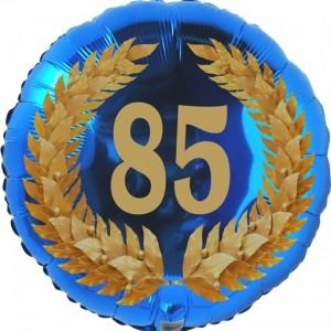 Lorbeerkranz 85, Luftballon aus Folie zum 85. Geburtstag, ohne Ballongas