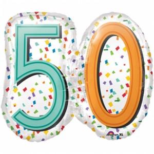 Rainbow Birthday 50 ohne Helium