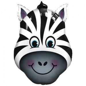 Luftballon verrücktes Zebra ohne Ballongas