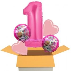 5 Luftballons zum 1. Geburtstag eines Mäschens