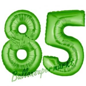 Zahl 85 Grün Luftballons aus Folie zum 85. Geburtstag, 100 cm, inklusive Helium