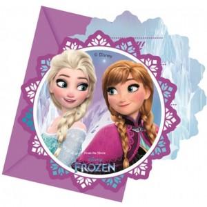 Frozen Northern Lights Einladungskarten zum Kindergeburtstag