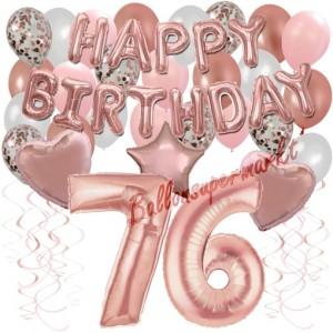 Dekorations-Set mit Ballons zum 76. Geburtstag, Happy Birthday Dream, 42 Teile