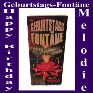 Geburtstags-Fontäne, Happy Birthday Melodie, kleines Feuerwerk zur Geburtstagsparty