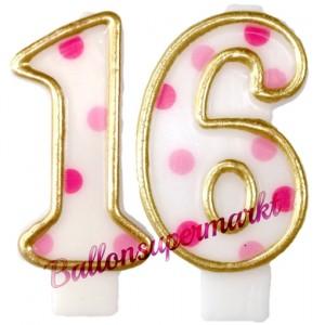 Kerzen Pink Dots, Zahl 16