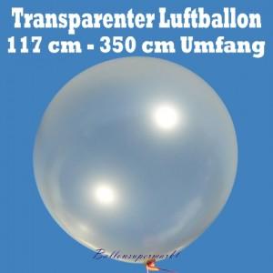 Großer 350er Riesenballon, transparent, 117 cm Durchmesser