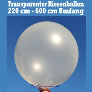 Riesengroßer transparenter Luftballon, 220 cm, 600er