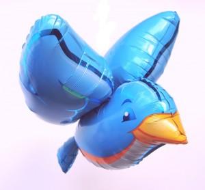 Großer 3D Vogel, Luftballon aus Folie