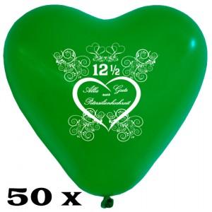 Herzluftballons zur Petersilienhochzeit, 50 Stück, 28-30 cm Latexballons