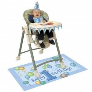 Hochstuhl Dekorations-Set zum 1. Geburtstag, Junge, Blue Balloons