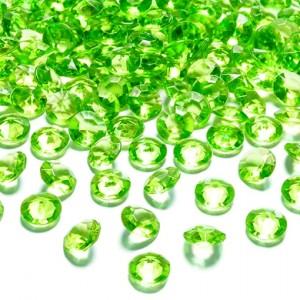 Konfetti, Diamanten, hellgrün, Tischdekoration Hochzeit, Party, Geburtstag