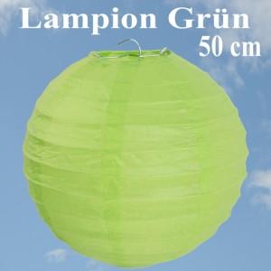 XL Lampion Grün, 50 cm