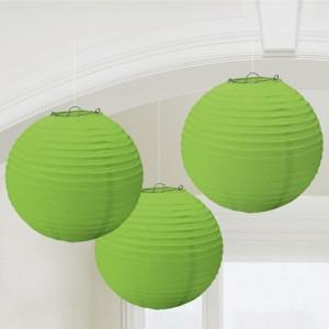 Lampion-Set Apfelgruen, 3 Stueck, Dekoration