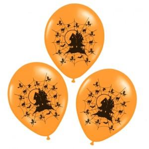 Luftballons Halloween, Spukhaus, Hounted House Dekoration
