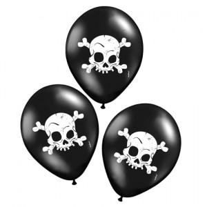 Luftballons Halloween, Totenkoepfe, Skull Dekoration