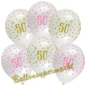 Pink Chic 50, Luftballons zum 50. Geburtstag